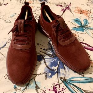Cole Haan Generation ZEROGRAND Red Suede Shoes
